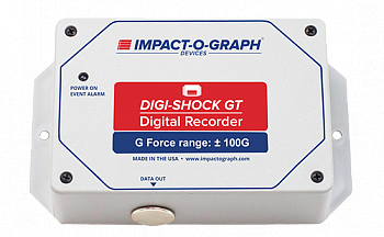 Digital impact and temperature recorder, DIGI-SHOCK